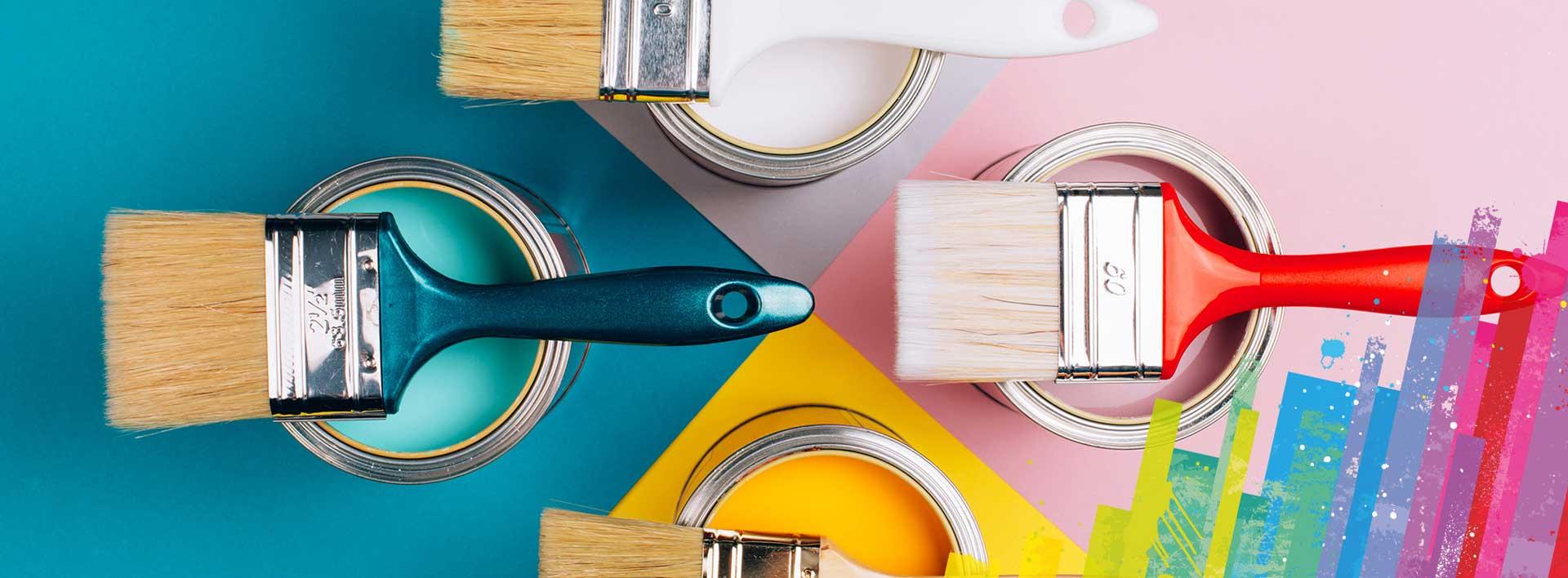 Peinture, création de couleurs, matériel de peinture